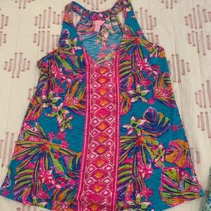 NWOT Lilly Pulitzer racer back tank. Xs